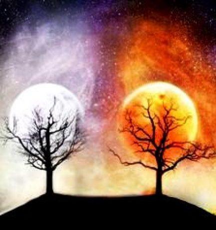 Adânc, în Universul etern, visez la stele căzătoare și la acea iubire imposibilă dintre Lună și Soare…